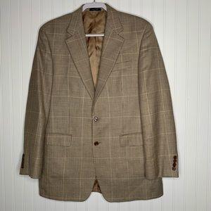 Ralph Lauren brown check plaid suit jacket 40L